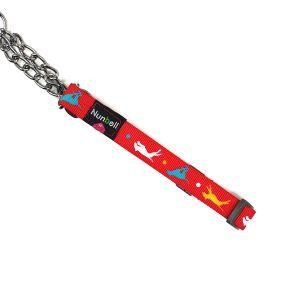Obroża dla psa czerwona M 28-48cm