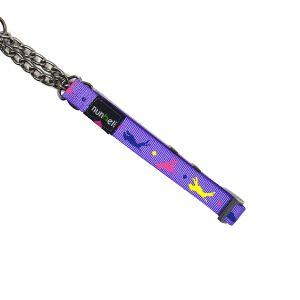 Obroża dla psa fioletowa M 28-48cm