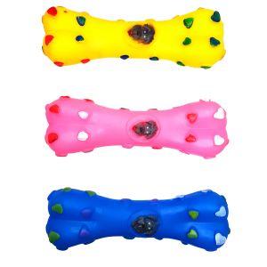 Kość zabawka gumowa dla psa żółta