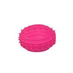 Piszcząca piłka dla psa różowa