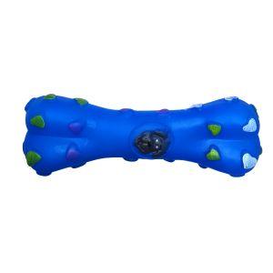 Kość zabawka gumowa dla psa niebieska