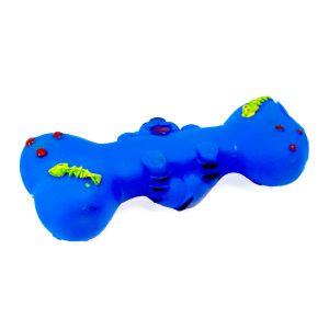 Kostka zabawka gumowa dla psa niebieska