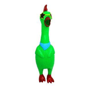 Kurczak skrzeczący, gumowa zabawka zielony