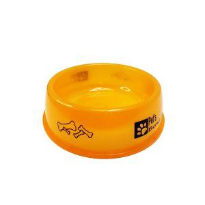 Miska dla zwierząt neon 12cm pomarańczowa