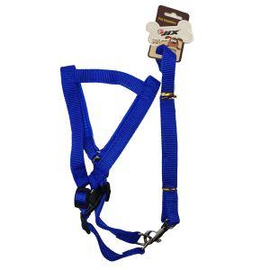 Szelki + smycz z neoprenem dla psa  M-XL niebieskie