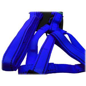 Szelki + smycz dla psa odblaskowe M niebieskie
