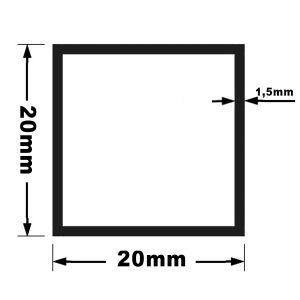 Rura kwadratowa 20x20x1,5 mm