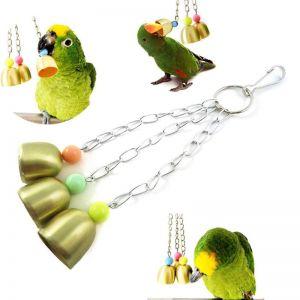 Wiszące dzwoneczki z koralikami zabawka dla papug