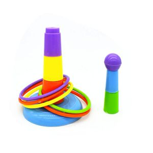 Wieża z ringami - zabawka dla papug