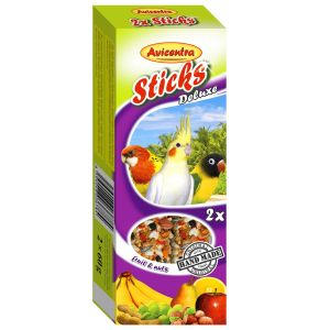 Sticks Deluxe Średnia Papuga: owoce + orzechy